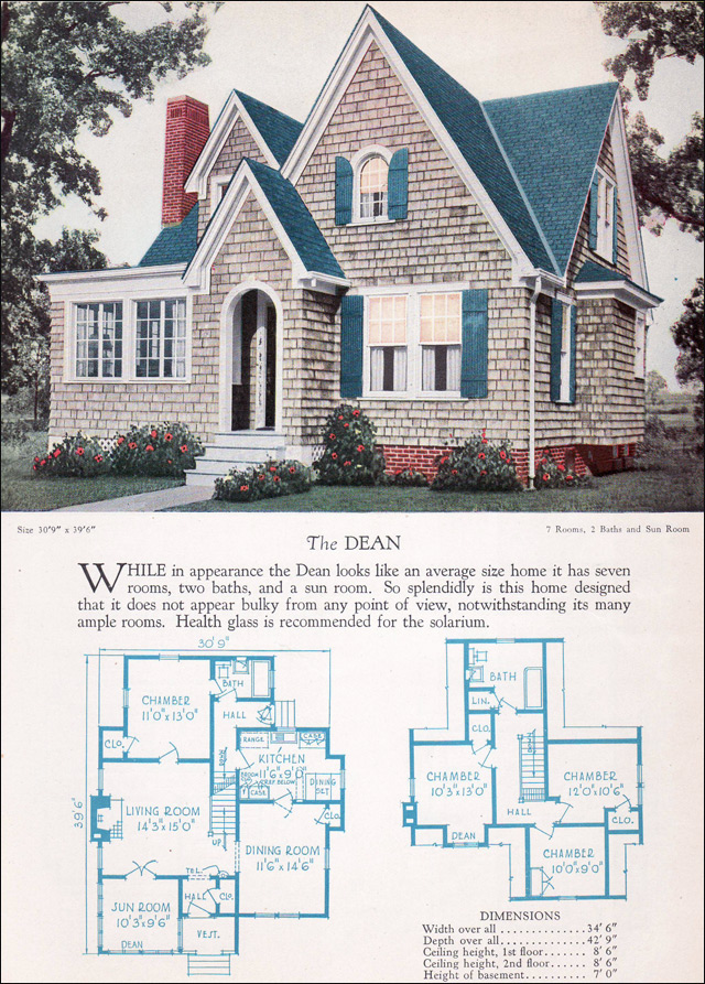 Large Exterior Plan For Modern Homes In Mix Colors: 1920s Modern English Style House Plan