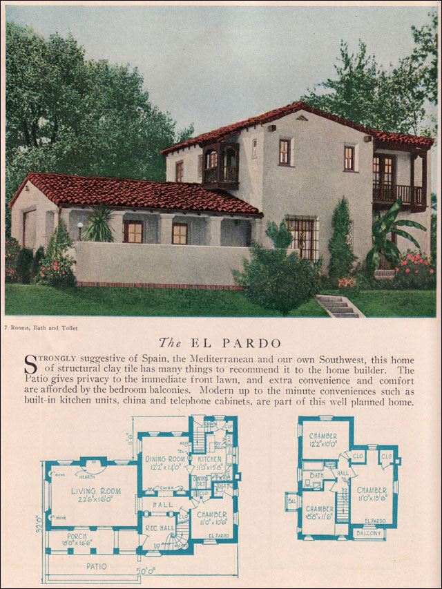 Small spanish style home floor plans for American small house design
