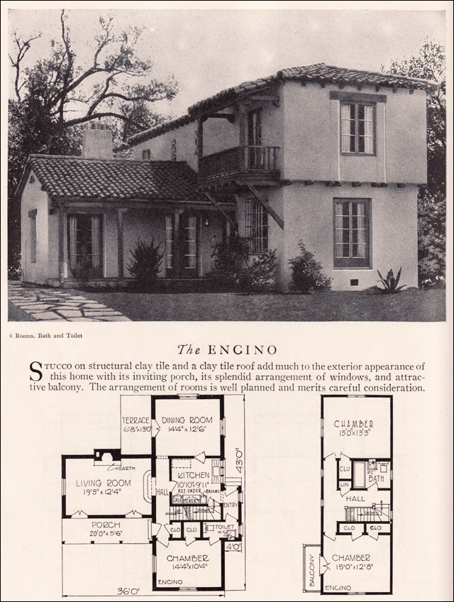 Encino House Plan Eclectic Monterey Spanish Revival