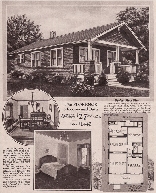 Motgomery Ward Kit House 1930 Bungalow Florence
