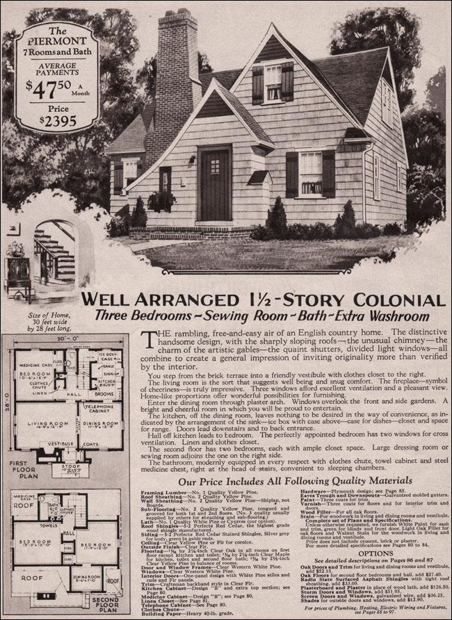 1930 Piermont Montgomery Ward English Cottage