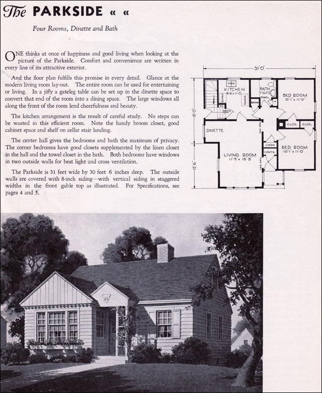 1935 Gordon Van Tine Homes The Parkside