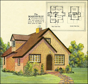 Authentic vintage home plans original cottage house for Old home plans