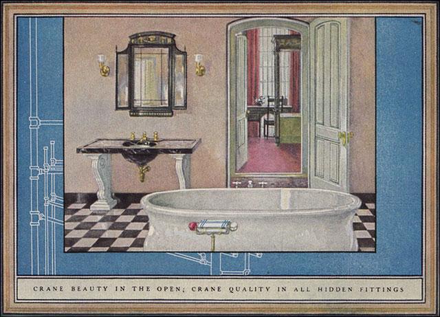 1925 Crane Plumbing Fixtures Sophisticated 1920s