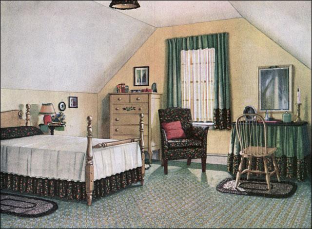1924 Blabon Attic Bedroom Vintage Bedroom Inspiration
