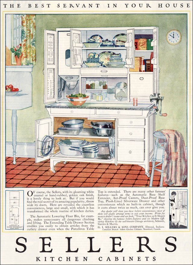 1923 Sellers Kitchen Cabinets Vintage Kitchen Design Inspiration