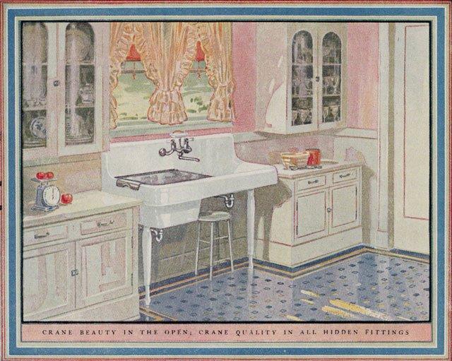 1925 Crane Plumbing Kitchen Design Of The 1920s